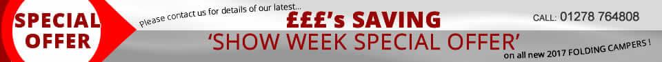 Folding Camper Show Week Offers