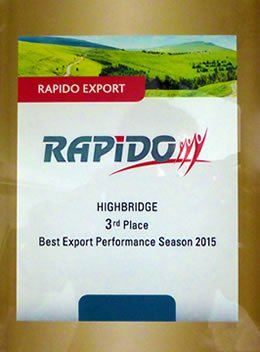 Rapido 3rd Place - Best Export Performance