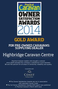 Practical Caravan Pre-Owned Caravans: Supplying Dealer Gold Award 2014