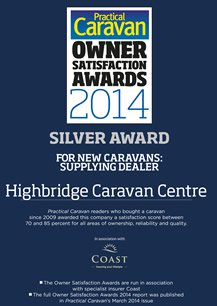 Practical Caravan New Caravans: Supplying Dealer Silver Award 2014
