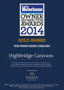 Practical Motorhome Pre-Owned Motorhomes: Supplying Dealer Gold Award 2014