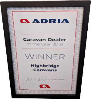 Adria Caravan Dealer of the year 2018